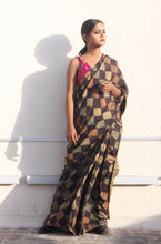 Load image into Gallery viewer, Estelle | Earthy brown pure silk saree