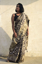 Load image into Gallery viewer, Kristen | Mulberry silk saree with floral print
