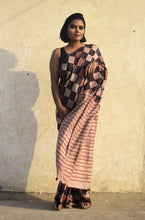 Load image into Gallery viewer, Riva | Pure silk saree with dabu print
