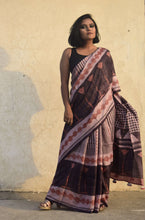 Load image into Gallery viewer, Genny | Dabu printed mulberry silk saree