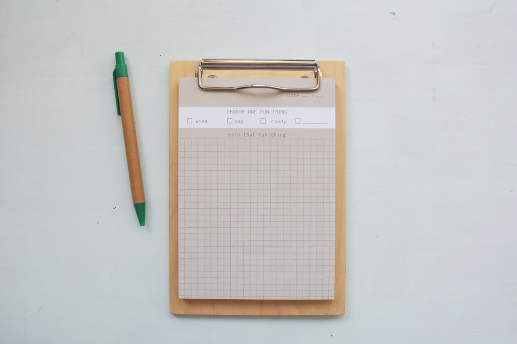 One Fun Thing To-Do List Notepad