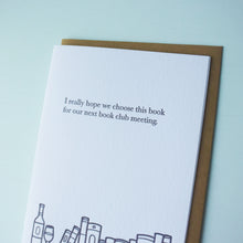 Load image into Gallery viewer, Next Bookclub Book Bookish Letterpress Card