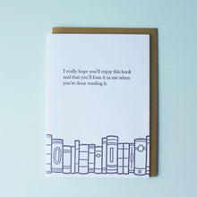 Load image into Gallery viewer, Loan This Book Bookish Letterpress Card