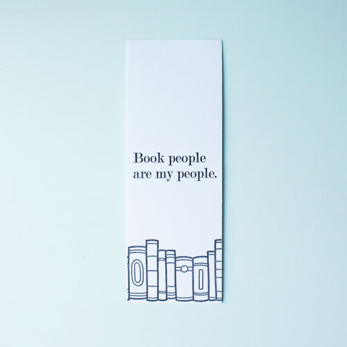 Book People Are My People Letterpress Bookmark