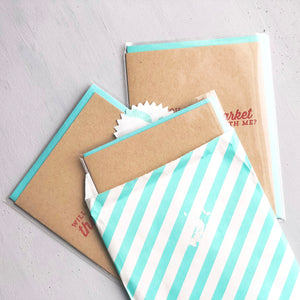 Card Flight - Day Date Morning Edition - Three Letterpress Greeting Cards