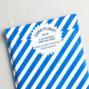 Card Flight - What Is Going On - Three Letterpress Greeting Cards