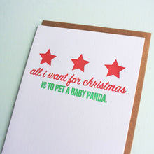 Load image into Gallery viewer, Baby Panda Letterpress Holiday Card