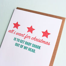 Load image into Gallery viewer, Baby Shark Letterpress Holiday Card