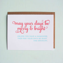 Load image into Gallery viewer, Brunchy Hangover Letterpress Holiday Card