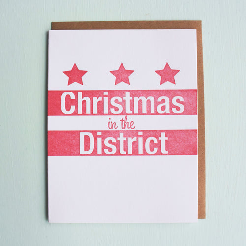 Christmas in the District Letterpress Holiday Card