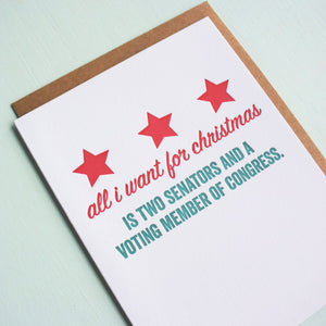 DC Representation Letterpress Holiday Card