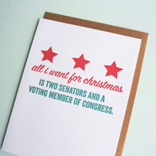 Load image into Gallery viewer, DC Representation Letterpress Holiday Card