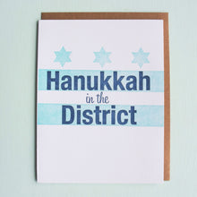 Load image into Gallery viewer, Hanukkah in the District Letterpress Holiday Card