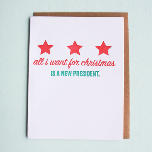 New President Letterpress Holiday Card