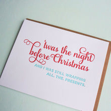 Load image into Gallery viewer, Up All Night Letterpress Holiday Card