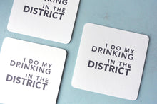Load image into Gallery viewer, Drinking in the District Letterpress Coasters