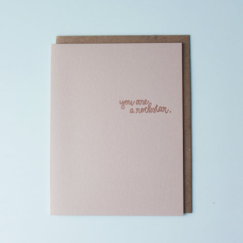 You Are A Rockstar Letterpress Congratulations Card
