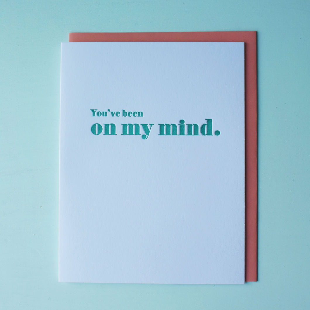 On My Mind Letterpress Friendship Card
