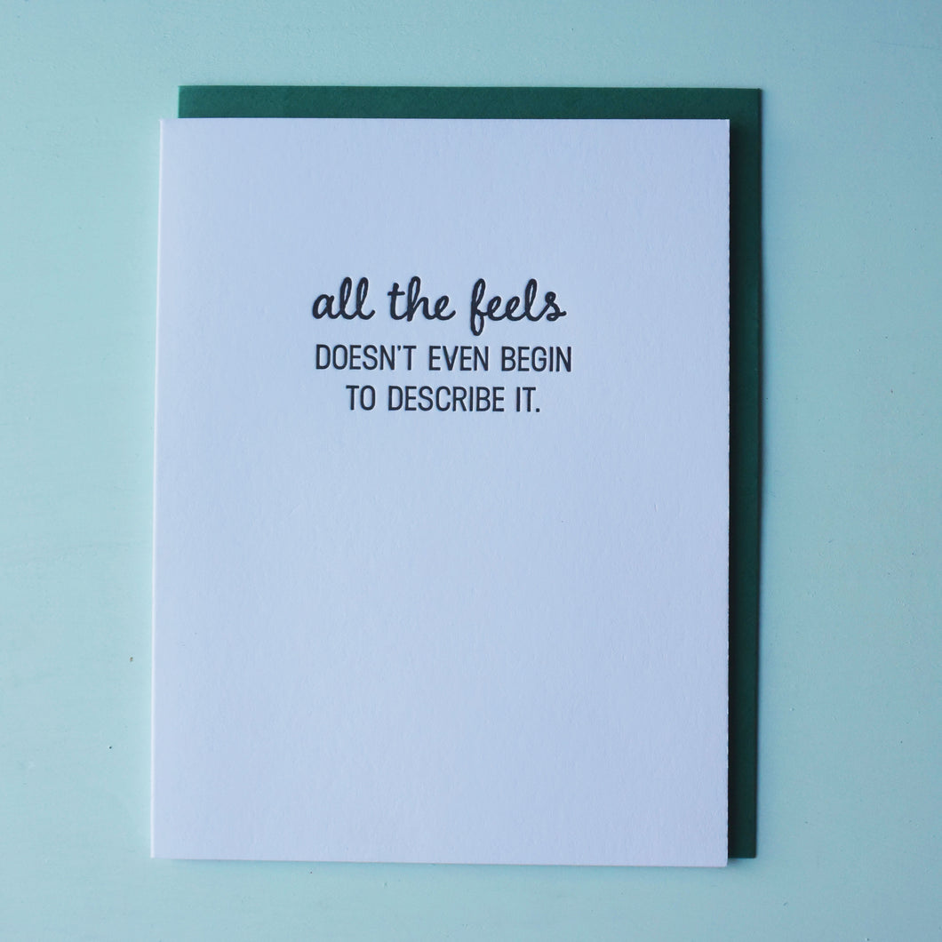 All the Feels Letterpress Love Card