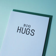 Load image into Gallery viewer, Big Hugs Letterpress Friendship Card