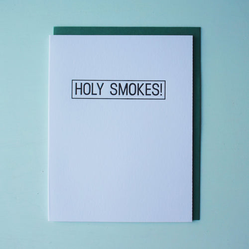 Holy Smokes Letterpress Congratulations Card