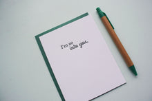Load image into Gallery viewer, I'm So Into You Letterpress Love Card