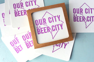 Beer City Letterpress Coasters