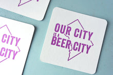 Load image into Gallery viewer, Beer City Letterpress Coasters