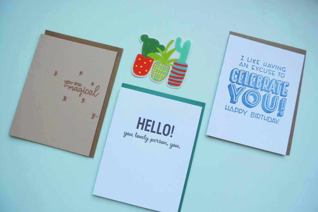 One Year Letterpress Card Subscription