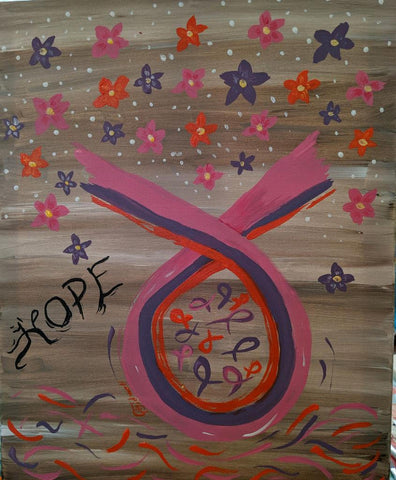 "Thursday October 17th 2019,  "" Ribbon of Hope"" Public Party""at Big Spring, TX Paint, Wine, & Canvas Class"