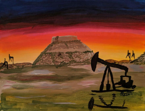 "Saturday, October  26th, 2019, 6-8pm ""Signal Mountain"" Public Wine & Painting Class Big Spring, TX"