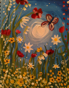 "Thursday, September 5th , 2019, 6-8pm ""Summer time"" Public Big Spring, TX Wine, & Canvas Class"