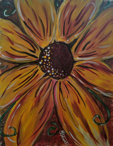 "Saturday, August 31st , 2019, 6-8pm ""Sunflower"" Public Big Spring, TX Wine, & Canvas Class"
