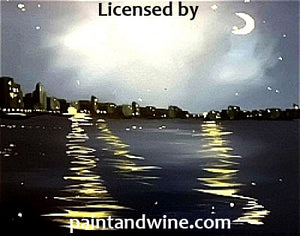 "Saturday, August 25th , 2018, 7-9pm ""Night Cityscape"" Public Big Spring, TX Wine, & Canvas Class"