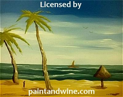 "Fri, June 15, 2018, 7-10pm ""Palms and Palapa"" Public Big Spring, TX Paint, Wine, & Canvas Class"