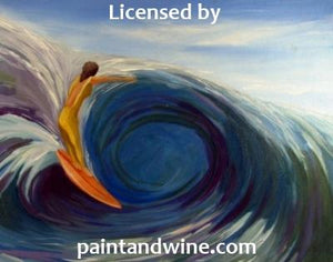 "Copy of Sat, June 22nd, 2019, 6-8pm ""Pipeline"" Public Wine & Painting Class Big Spring, TX"