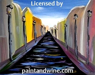 "Sat, July 27th, 2019, 6-8pm ""Rainy Road"" Public Wine & Painting Class Big Spring, TX"