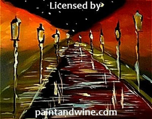 "Sat, July 14, 2018, 6-9pm ""Rainy Road"" Public Big Spring, TX Paint, Wine, & Canvas Class"