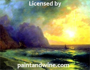 "Sat, November 24th, 2018, 6-8pm ""Sunset Bay"" Public Big Spring, TX, Paint, Wine, & Canvas Class"