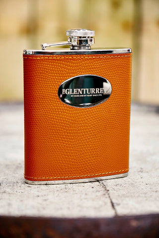 Glenturret Tan Leather Hip Flask