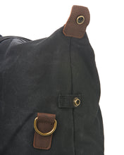 Load image into Gallery viewer, The Glenturret Black Waxed Canvas Weekend Holdall