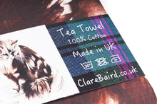 Load image into Gallery viewer, Towser Watercolour Tea Towel
