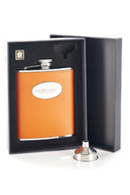 Load image into Gallery viewer, The Glenturret Tan Leather Hip Flask