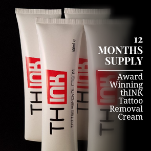 12 Months Supply Of Tattoo Removal Cream - thINK Tattoo Removal Cream