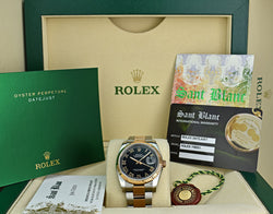 ROLEX - 18kt Rose Gold & Stainless DateJust Black Roman 116231