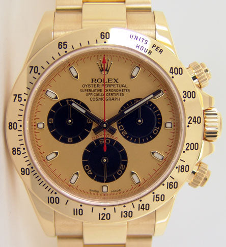 ROLEX Mens 18kt Yellow Gold Daytona Champagne Paul Newman Dial Model 116528