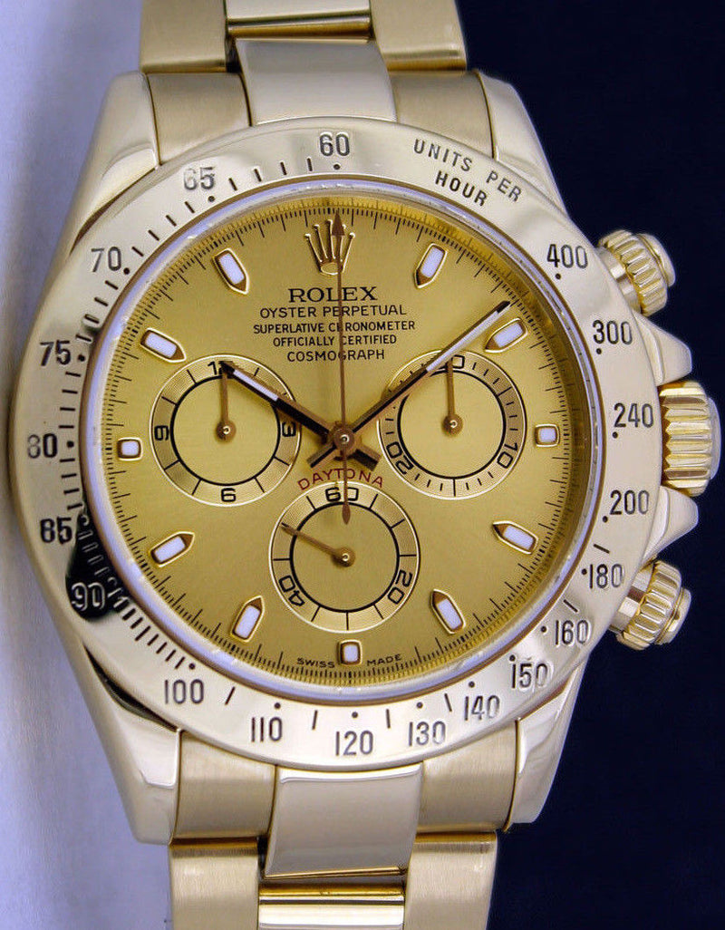 ROLEX - Mens 40mm 18kt Yellow Gold DAYTONA Champagne Index 116528