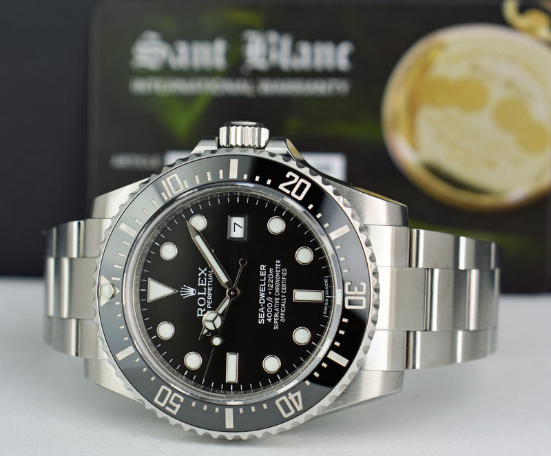 ROLEX - Mens 40mm Stainless Steel SeaDweller 4000 - Black Dial - 116600