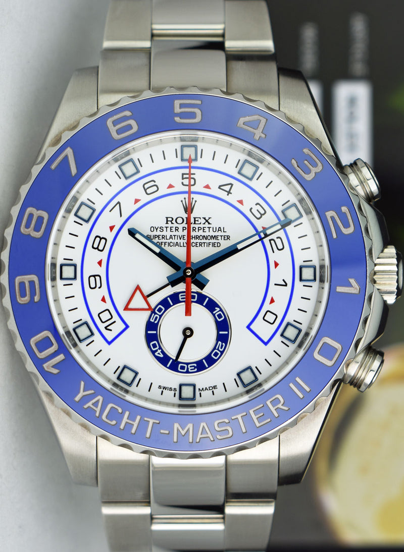 ROLEX - 44mm Stainless Steel Yachtmaster II - White Dial - 116680