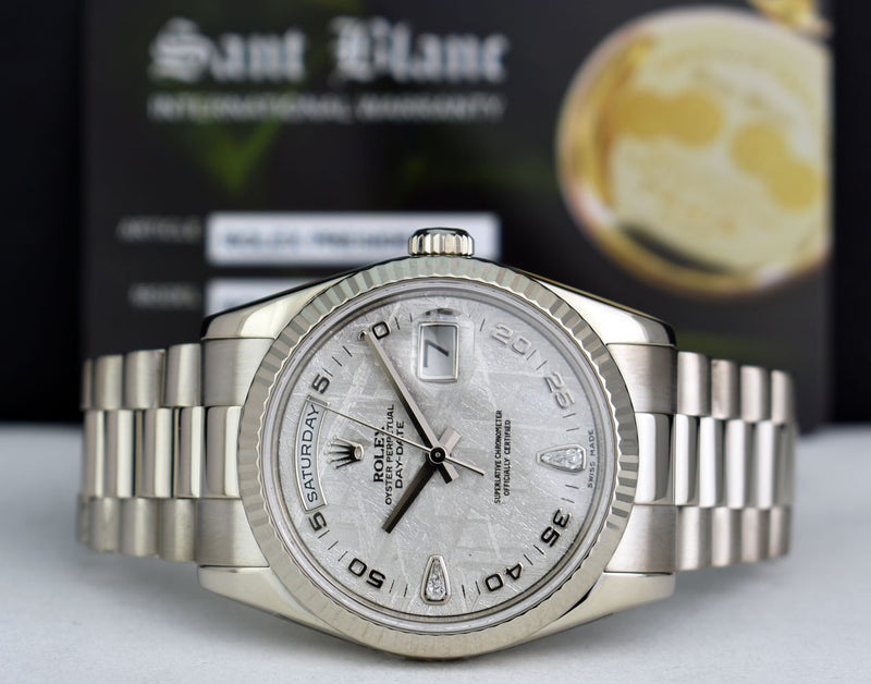 ROLEX - 18kt White Gold Day Date President Meteorite Diamond 118239